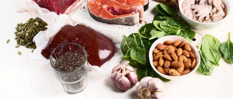 たんぱく質やミネラルを含む食材