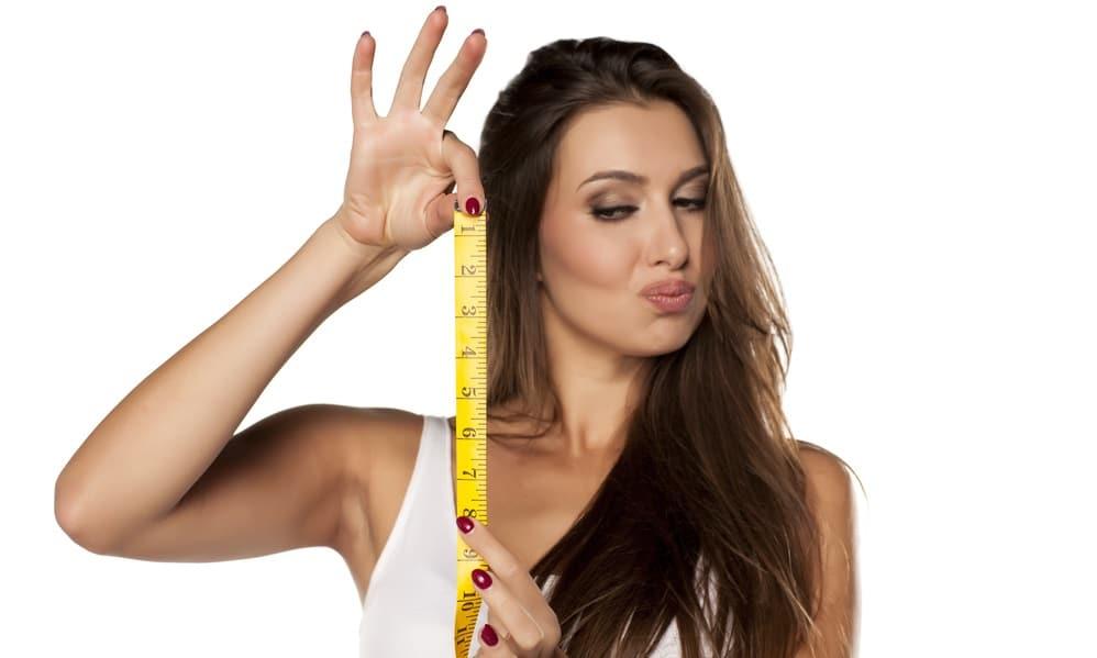ペニスのサイズを測る