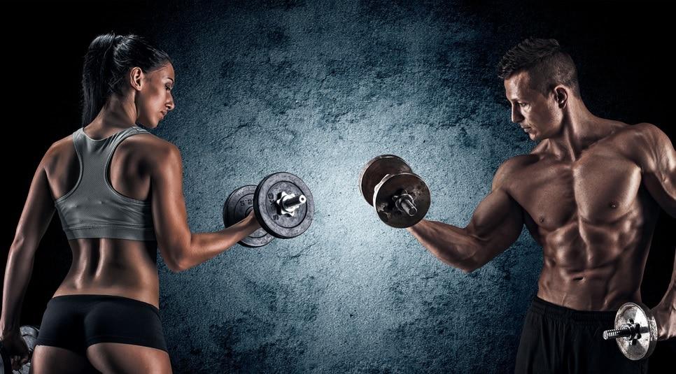 筋肉質な男女