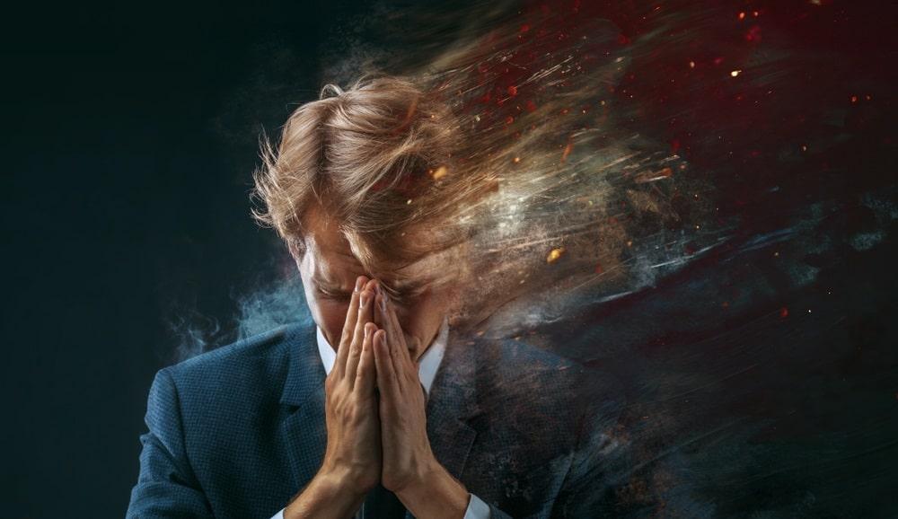 ストレスを抱える男性