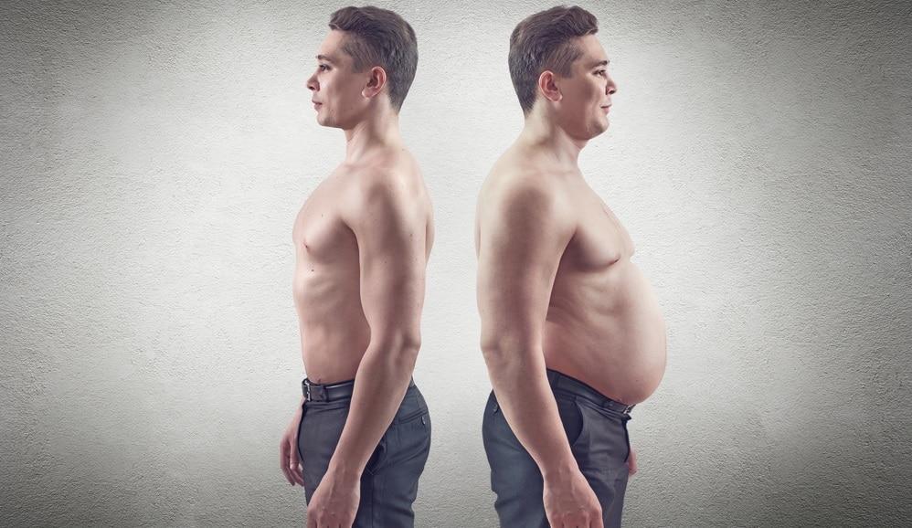 健康的な男性と肥満男性