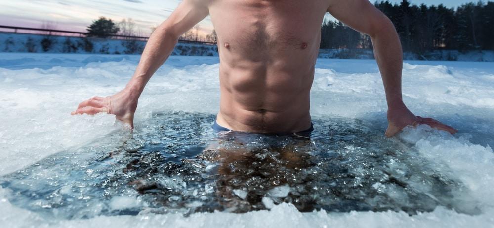冷水の風呂