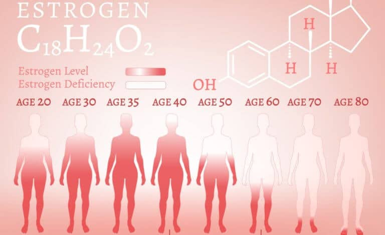 女性の年齢別ホルモンレベル