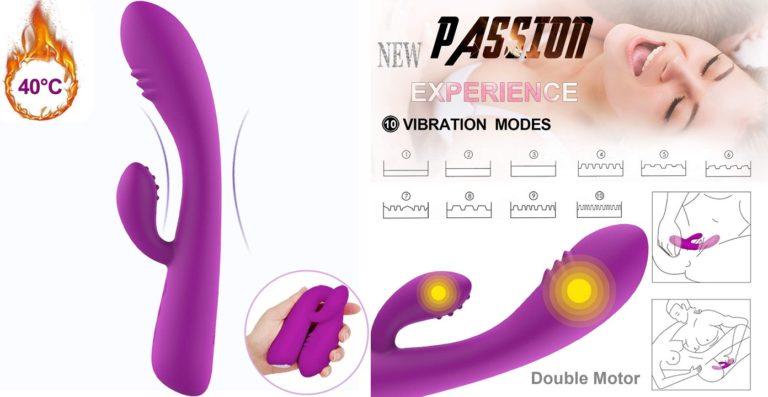 バイブ バイブレーター 女性用 10パターン 恒温デザイン 加熱機能付き クリ責め 医療用シリコン