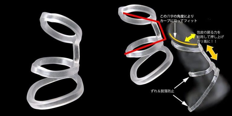 環の匠【IBオリジナルPKG】 脱落防止 巻き込み防止 3連リング (フリーサイズ)