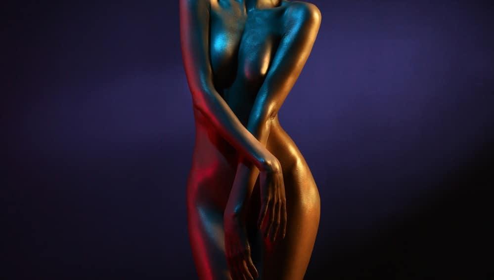 リアルな女性の体