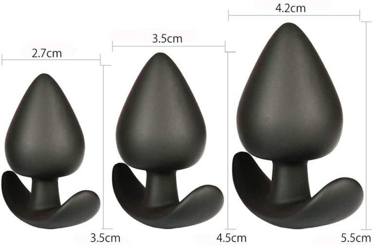 SXOVO 3本セット 肛門プラグ 医療用シリコン 肛門栓 男女兼用 アナル開発 アナルセックス