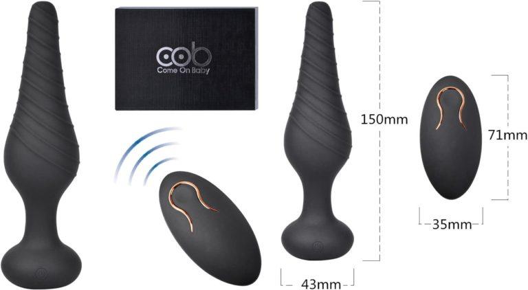Cob エネマグラ アナルプラグ 10種類振動モード シリコン製 充電式