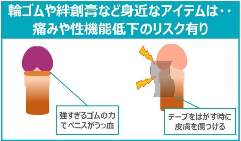 身近なアイテムによる包茎の治し方