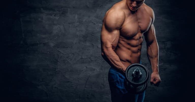 筋肉量が増えた男性