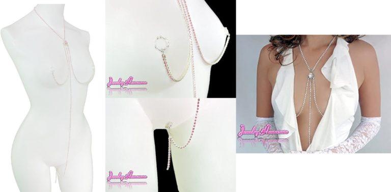 【Jewelry Hanazono】ジュエリースリーインワン マロンクリップ ライトローズ シルバー(オーダーメイド
