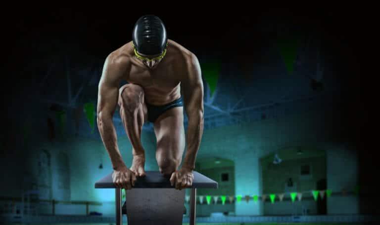 水泳選手の体