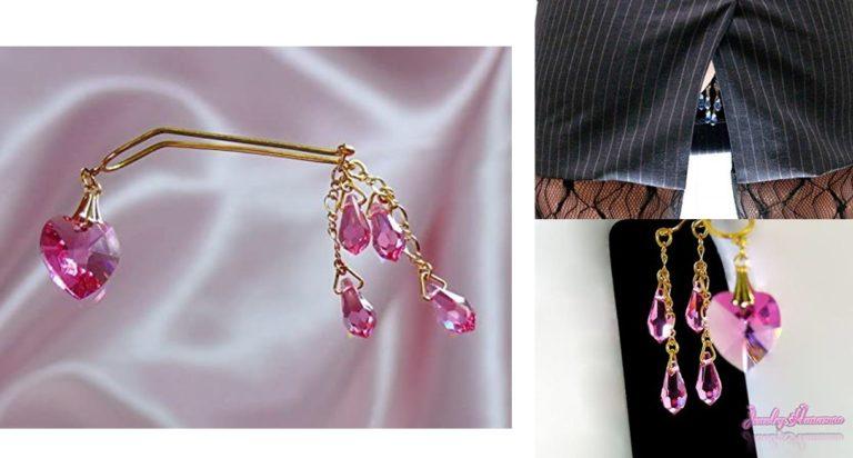 【Jewelry Hanazono】アンダークリップ ハート ローズ ゴールド ボディジュエリー bodyjewelry