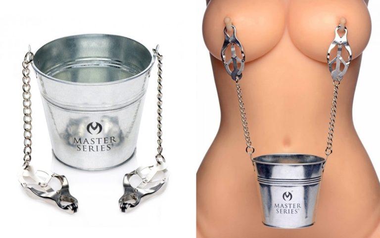 Slave Bucket Labia and Nipple Clamps(スレーブバケットラビア&ニップルクランプ)