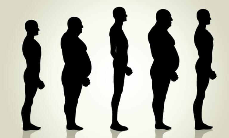ガリガリ体形の体重