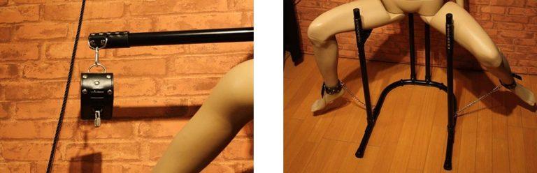 手と足の拘束部分