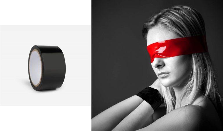 ボンテージテープ 拘束テープ SMグッズ SMプレイ 静電気 調教 セックスおもちゃ 成人おもちゃ 1個 ブラック