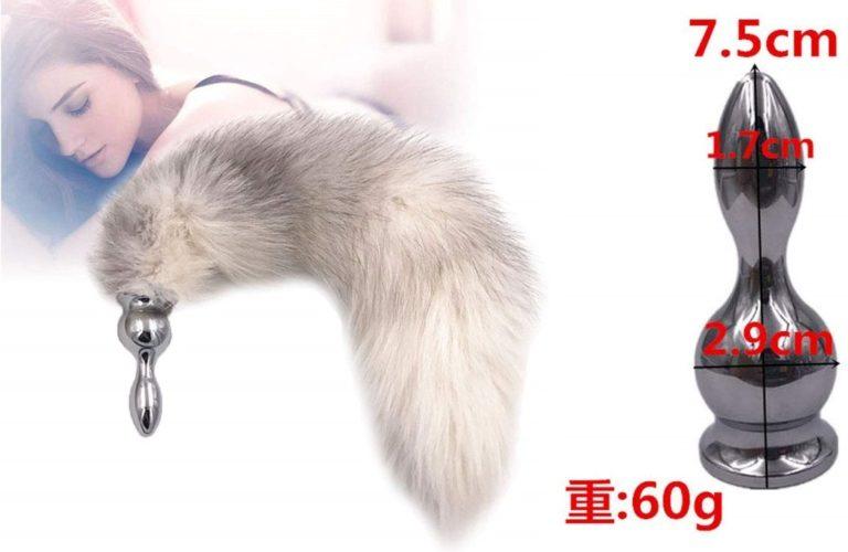アナルプラグ 尻尾 メタル ステンレス鋼製 バットプラグ エロ尻尾 アナル挿入ストッパー