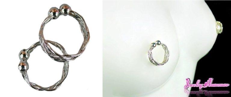 【Jewelry Hanazono】ニップルリング シルバー08 乳首用リング 乳首アクセサリー
