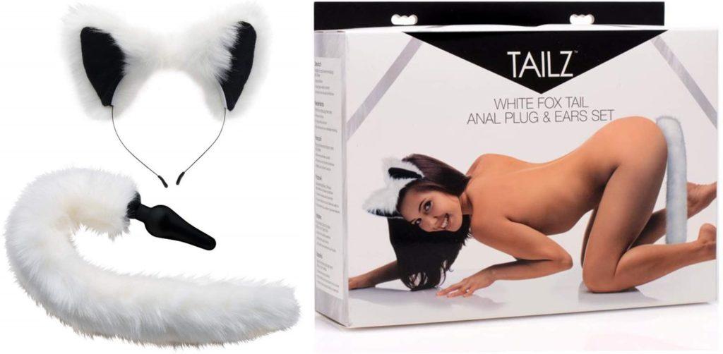 White Fox Tail Anal Plug and Ears Set(ホワイトフォックステイルアナルプラグ&イヤーズセット)