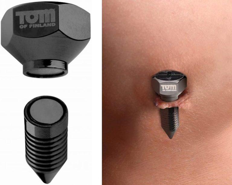 Tom of Finland Bros Pins Magnetic Nipple Clamps(トムオブフィンランド ブラザーズピンズマグネティックニップルクランプ)