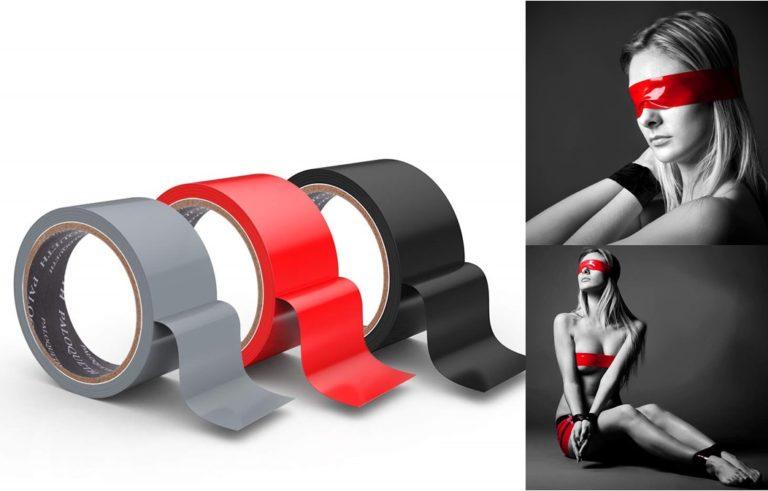 Paloqueth ボンテージテープ 拘束テープ 簡単拘束 静電気 調教 非粘着SMテープ SM拘束ロープ 大人のおもちゃ 3色セット