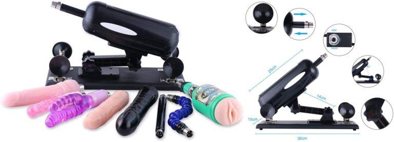 女性のための自動セックスマシン、女性のオナニー8つの添付ファイルを持つ男性のための膣搾乳銃膣ポンプ