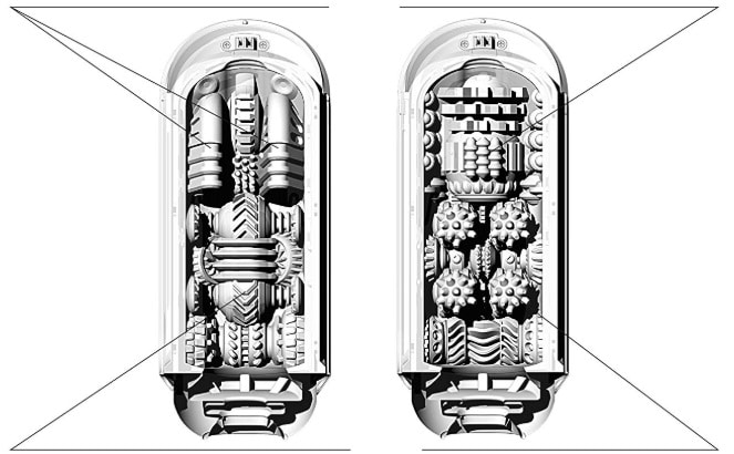 テンガフリップホールのEVシリーズの構造