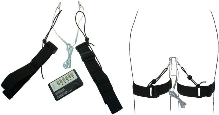 クリトリスクリップ レギンス ボンデージベルト ラビアクリップ 電気ショックキット 低周波マッサージ
