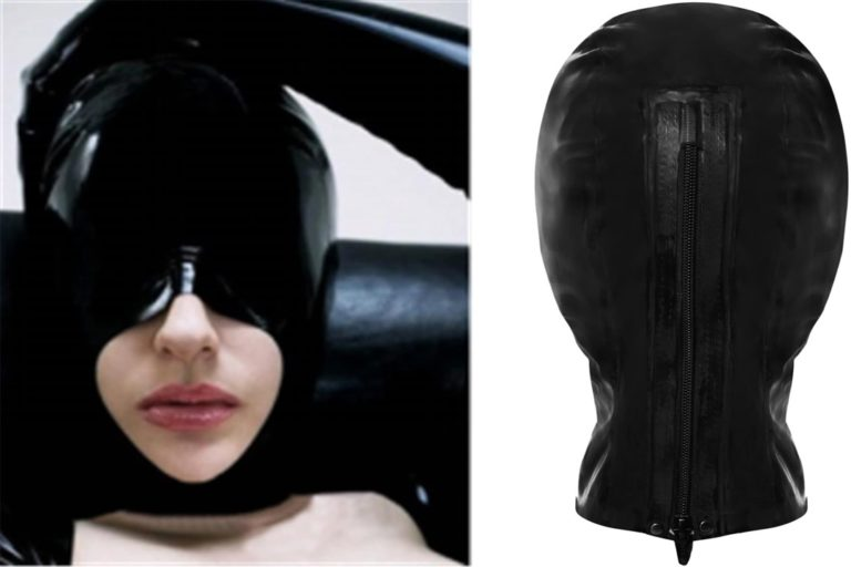 100%天然ラテックスマスクゴムフードSMフェティッシュ 全頭マスク