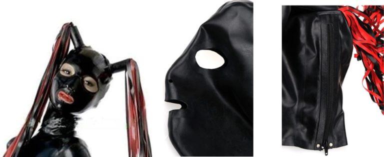 天然ラテックスマスクゴムフードSMフェティッシュ 全頭マスク