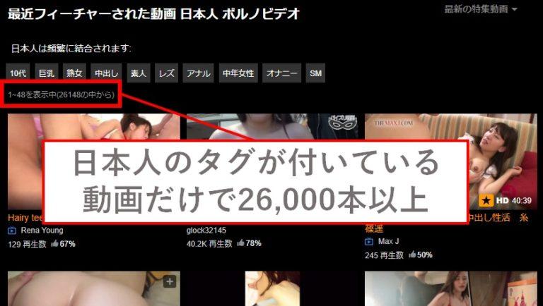 pornhub上に存在する日本人のAV