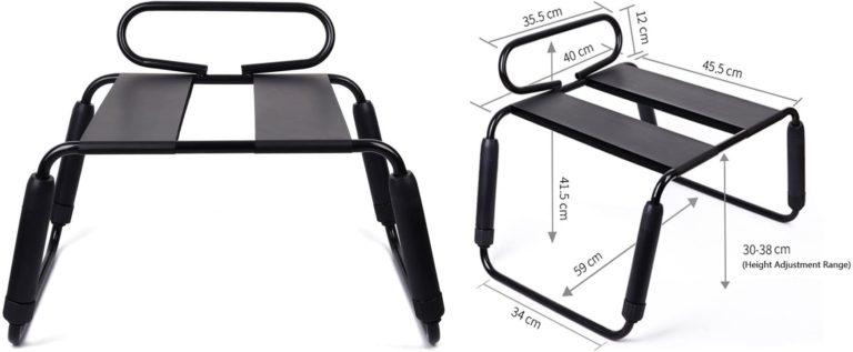 Qbuds セックス椅 拘束具騎乗位エロSM調教チェア多機能多用途チェア ホームソファ 高度調整機能 組み合わせ簡単 防水スタイル 「成人」 (ブラック防水(M))