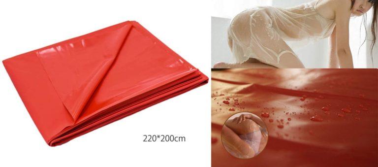 SXOVO 2.2x2m 防水 セクシーシーツ PVC 製 多用途 ベッドシーツ セックスゲーム 大人の寝具 (赤)