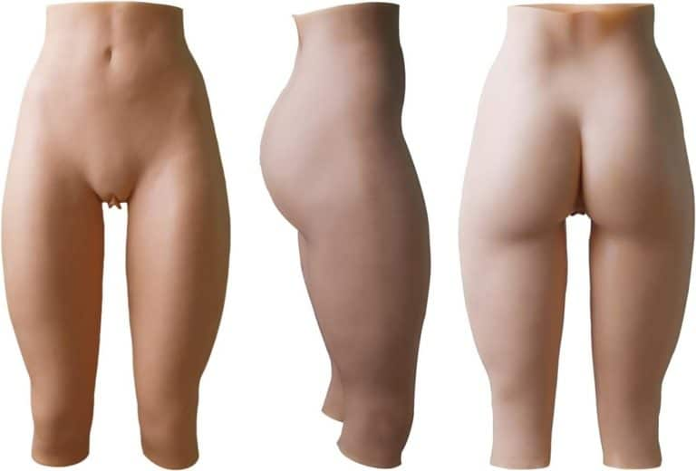 Cyomi 女装 性転換パンツ (1代目-七分丈-膣付き,セックス可能) 美尻 ピンク唇 変性 変装用 コスプレ ショーツ 超リアル 尿道付き 導尿可能 女体化 優れた伸縮性 アジア系黄色