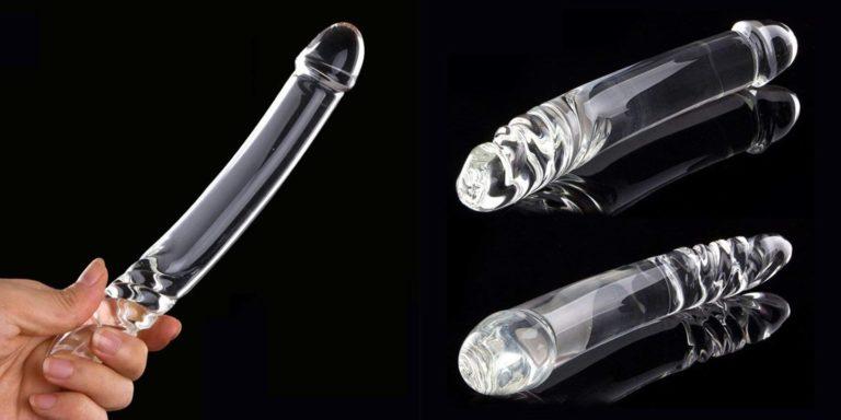 ディルド膣クリスタルガラス透明強力な女性のおもちゃアイスファイヤーマッサージャー