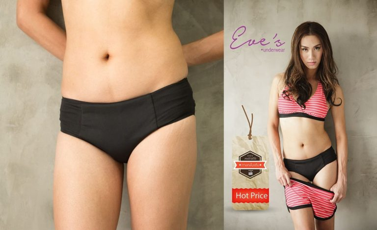eve's underwear 本場タイのブランド 女装用インナー 下着 (M, 黒)