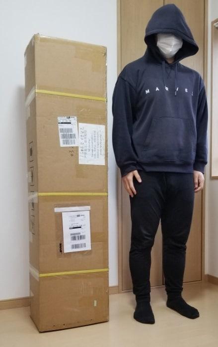 ラブドール外箱のサイズ