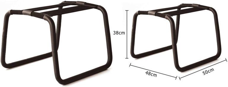 TaRiss's スツール セックスチェア 組立式 無重力 多用途 補助用 アーチ形 ステンレス ブラック 50cmx48cmx38cm