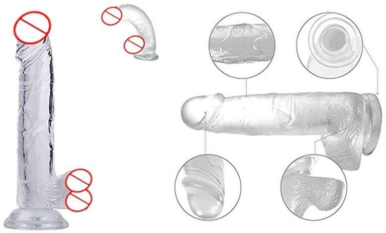 クリスタルペニス 男根の誘い リアル系ディルド 美しいクリアボディ セックス グッズ 張形 チンコ グッズ 吸盤構造 セクシー おもちゃ アダルトグッズ (透明)