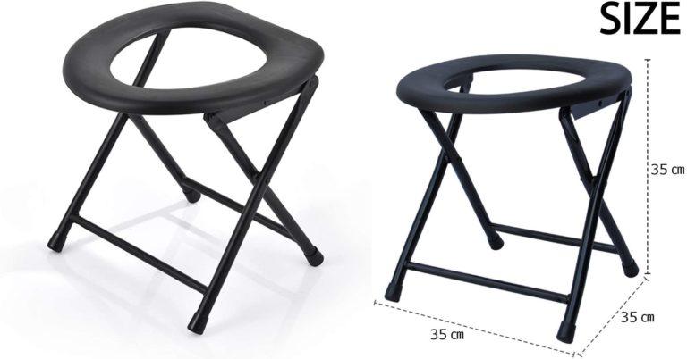 Felimoa 簡易 便座 トイレ 椅子 いす イス パイプ 折りたたみ 畳み コンパクト