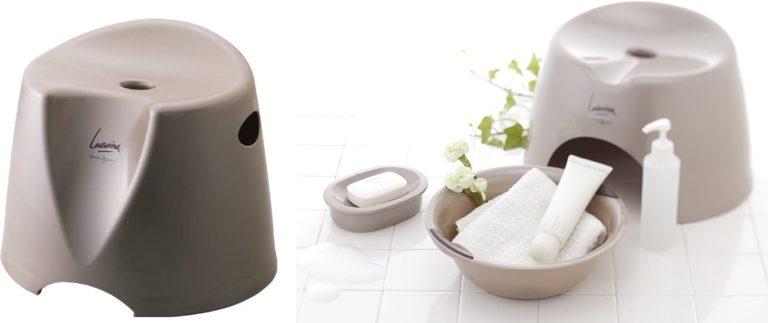 リス 風呂椅子 『ユニバーサルデザインの浴用品』 高さ26cm ラスレヴィーヌ ブロンズ