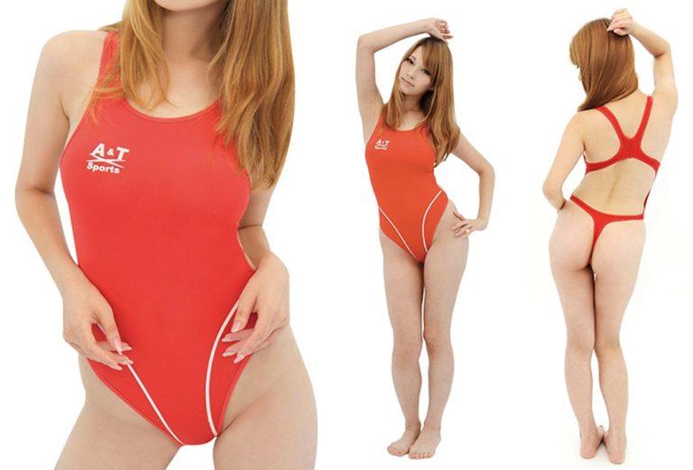 薄々競泳水着(ホットレッド) XLサイズ