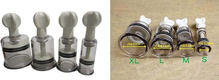 自宅で ニップルサッカー 乳首 吸引器 2個セット 陥没乳首 改善マニュアル付き (L)