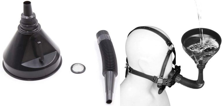 強制開口 口枷 アクセサリー 漏斗形 プラスチック SMグッズ 调教 拘束具 フェティッシュ 大人のおもちゃ ブラック