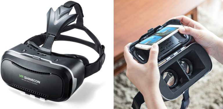 サンワダイレクト 3D VRゴーグル iPhoneAndroidスマホ対応 動画視聴 ヘッドマウント レンズ位置調整 400-MEDIVR2