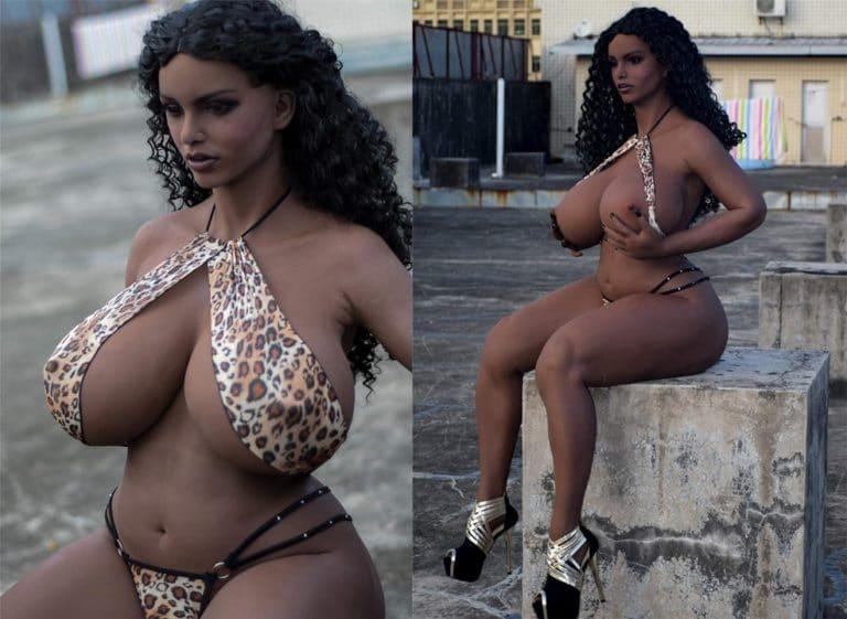 doll 人形 スタンド 可動ポーズ リアルドール 165cm太った黒人女性 脂肪いっぱい 等身大ダッチワイフ 性的パートナー 爆発ウィッグ付き