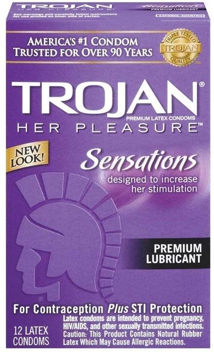 Trojan 彼女のプレジャー潤滑コンドーム - 12の箱