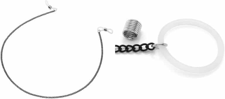PiercingJピアスホール不要 ニップル リングチェーン 乳首シリコーンリング 偽ニップルクリップ 輪縄調節できる 金属(タイプ1)