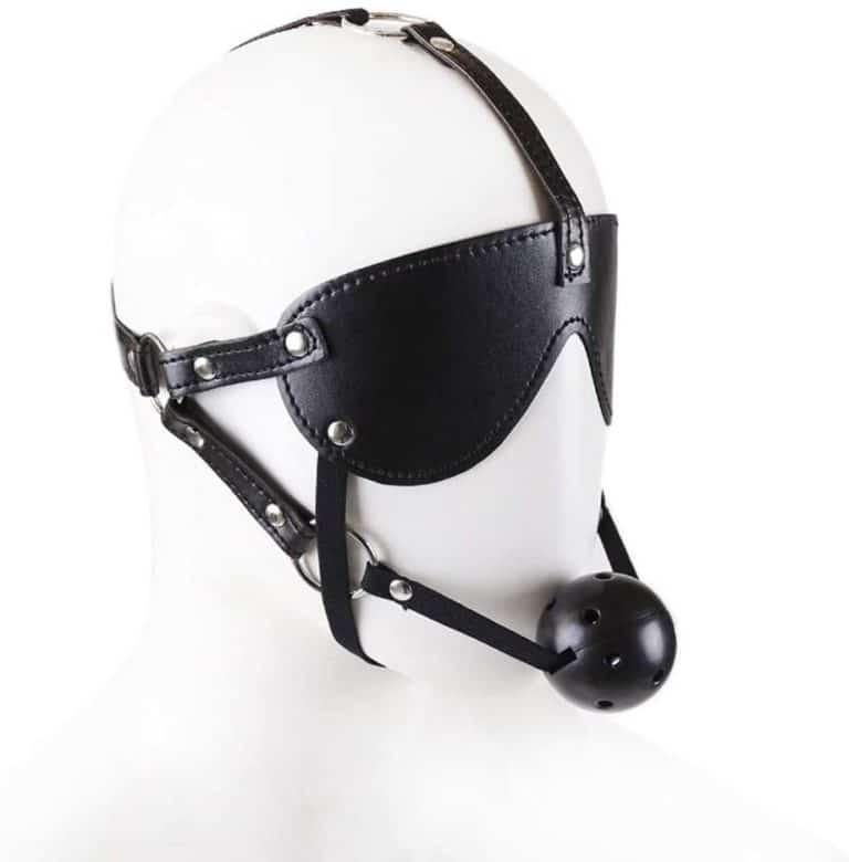 SLH カップルグッズいちゃつくバインド口ゴーグル女性用目隠し革マスクをバインド T-shirt